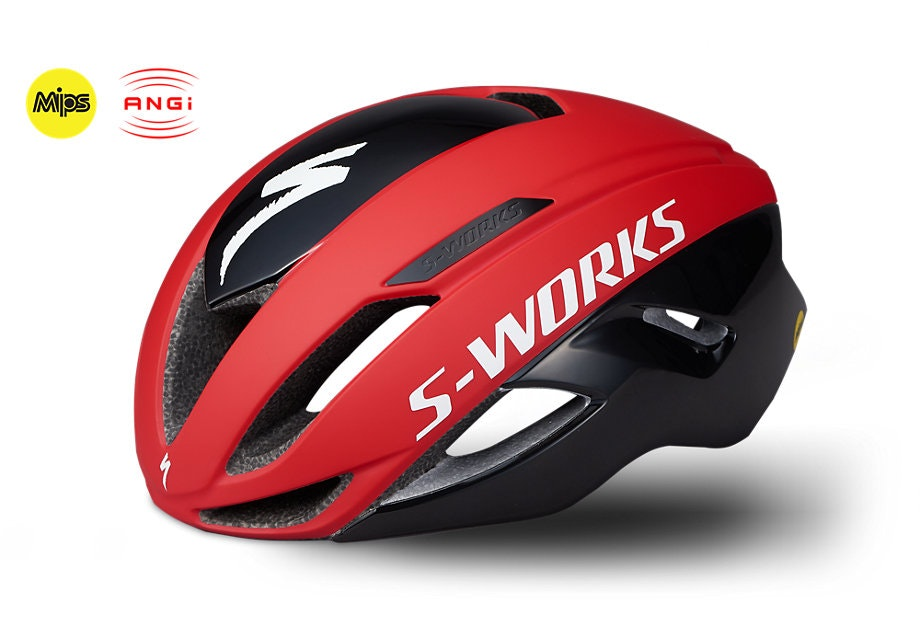 SW EVADE II HLMT ANGI MIPS CE TEAM RED/BLK M